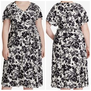 Lauren Ralph Lauren Belted Floral Flutter Dress